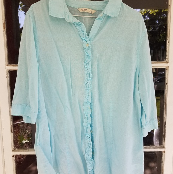 Old Navy Tops - Old Navy 3/4 Length Sleeve Button Down